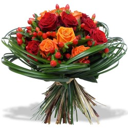 Bouquet Roses Ardentes